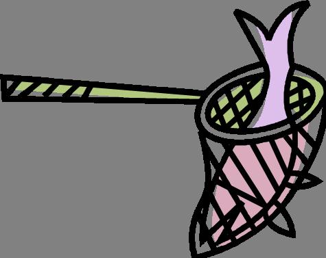 Cartoon Fishing Net