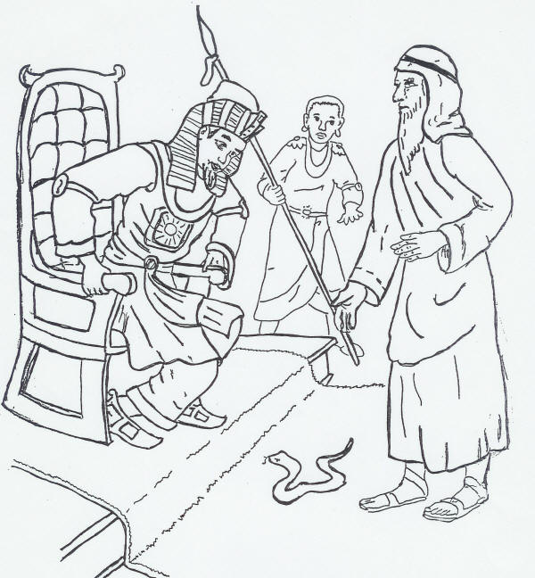 Moses Pharaoh Coloring Pages Coloring Pages