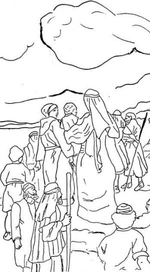 israelites leaving egypt coloring pages - photo#5
