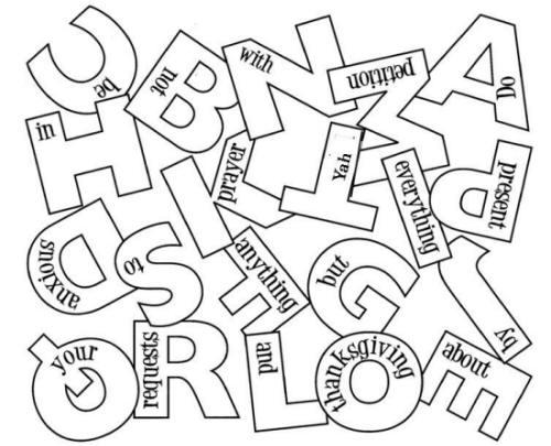 alphabet - Philippians 4 6 Coloring Page
